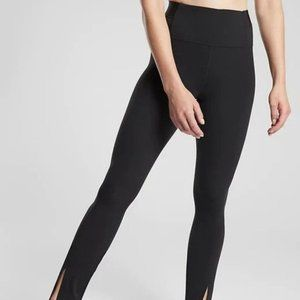 Athleta Aura Split Pants size M Black